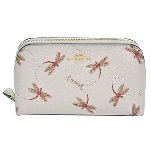 COSMETIC CASE 17 WITH DRAGONFLY PRINT  F76898